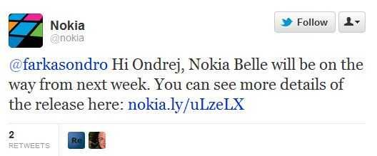 Nokia Belle set to release next week