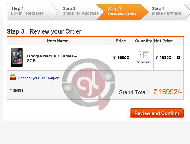 Google Nexus7 Tablet 8 GB Order Review- GizmoLord.com