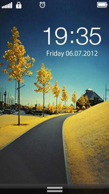 R-Slide_Unique custom skin for SlideUnlock Symbian app