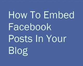 Embed Post Feature in Facebook