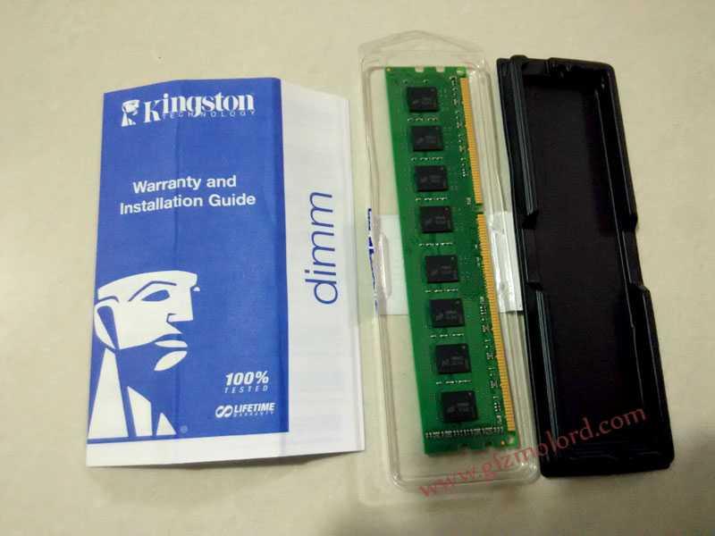 Kingston Value RAM 8GB Lifetime warranty